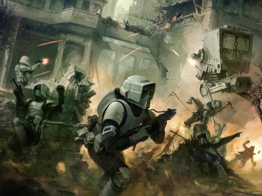 Star Wars Wallpaper: Urban Combat