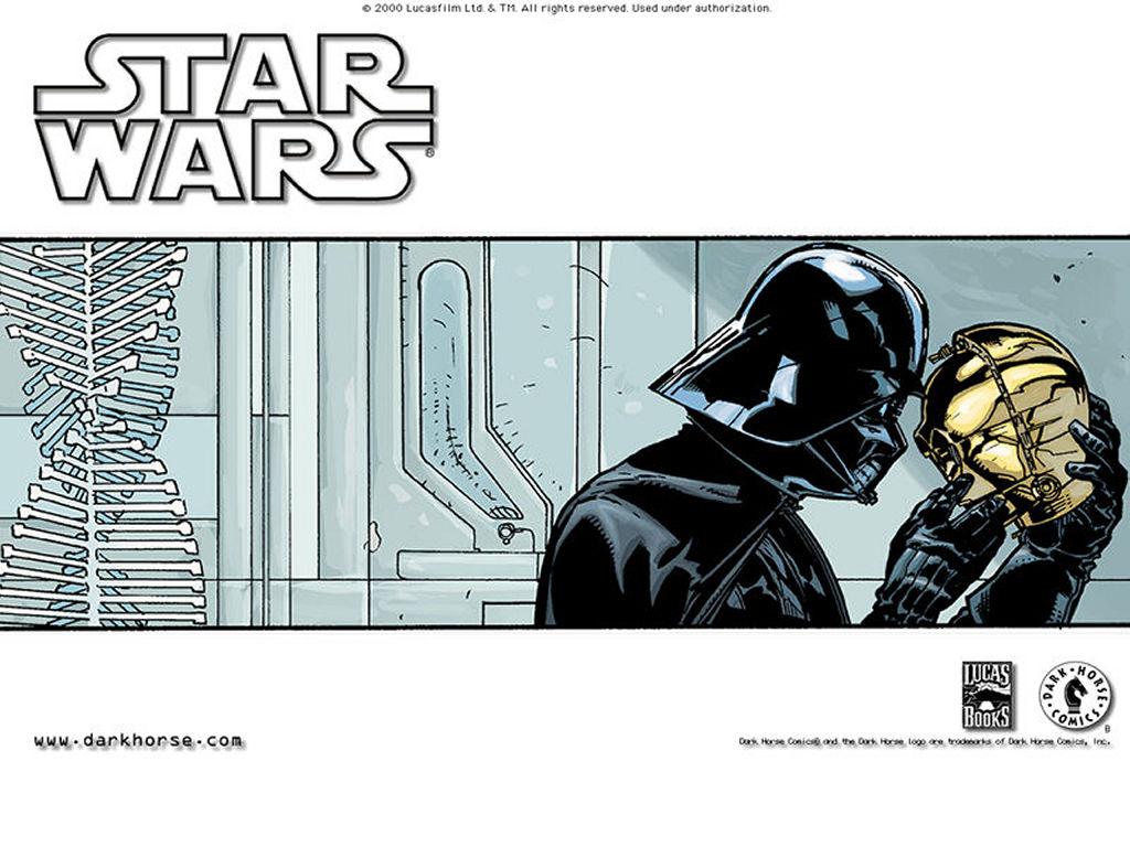 Star Wars Wallpaper: Vader and C3-PO