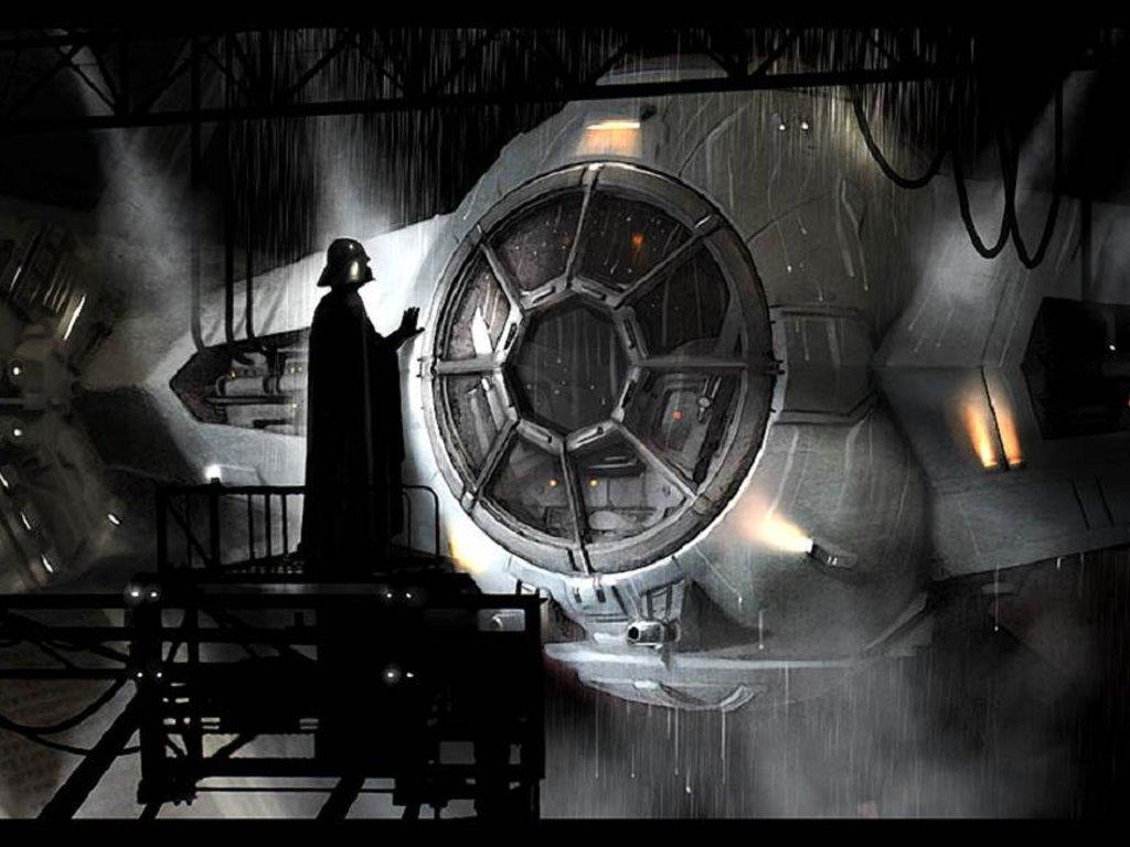 Star Wars Wallpaper: Darth Vader - Ship