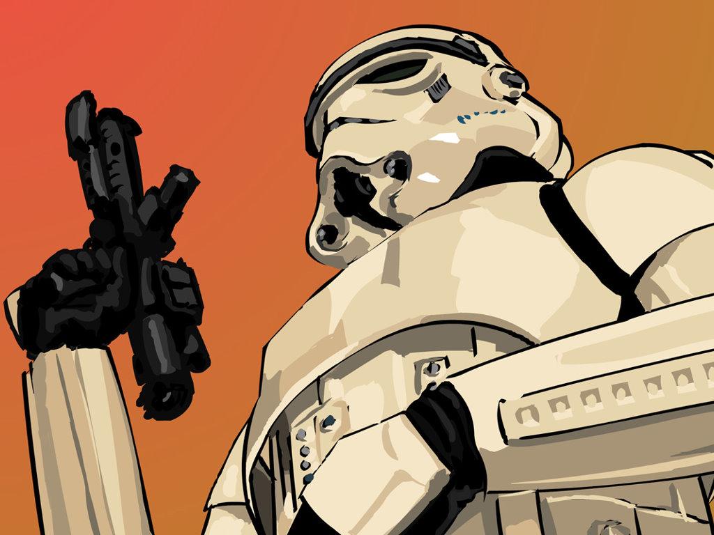 Star Wars Wallpaper: Vector Stormtrooper
