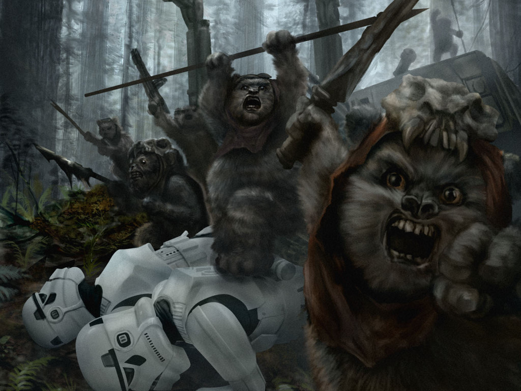Star Wars Wallpaper: Victory at Endor