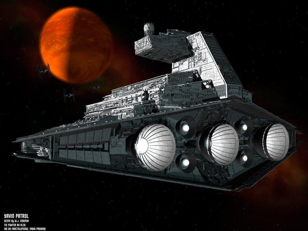 Star Wars Wallpaper: Yavin Patrol