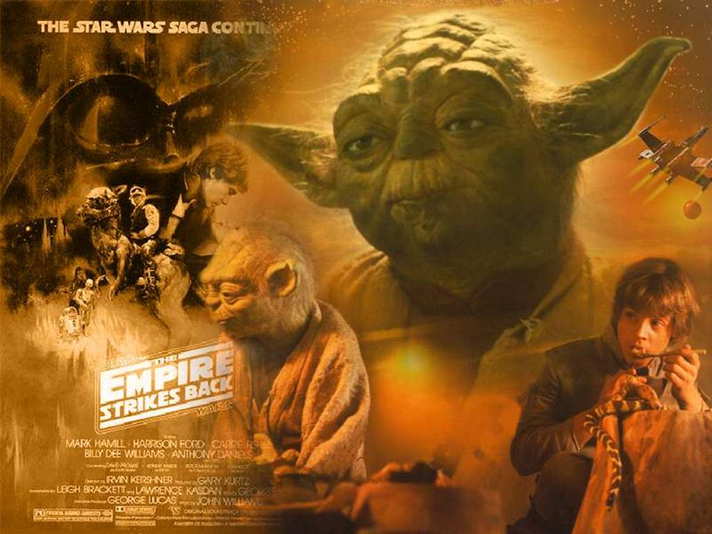 Star Wars Wallpaper: Yoda and Luke