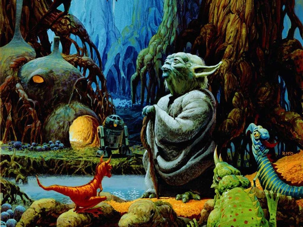 Star Wars Wallpaper: Yoda - Dagobah