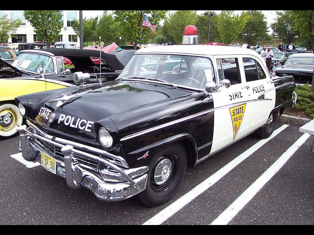 Vehicles Wallpaper: Ford 1956 - NJ State Police