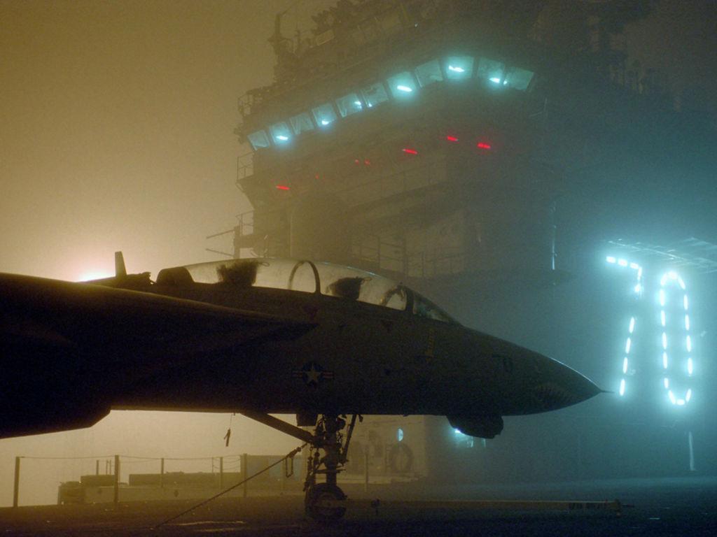Vehicles Wallpaper: Aircraft Carrier - Mist