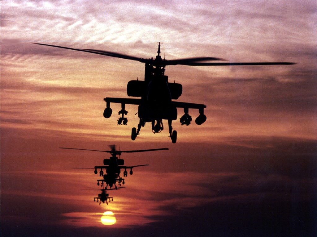 Vehicles Wallpaper: Apaches at Dusk