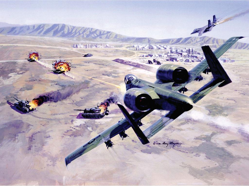 Vehicles Wallpaper: Aviation Art - Airstrike