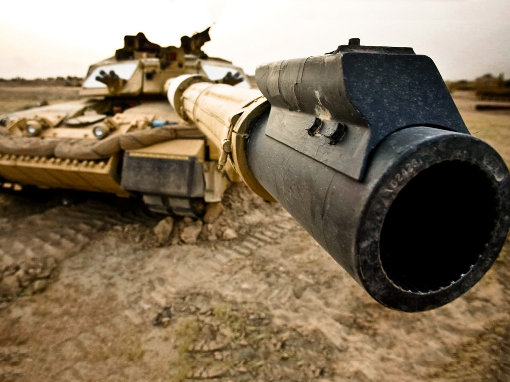 Vehicles Wallpaper: Tank - Barrel of the Gun