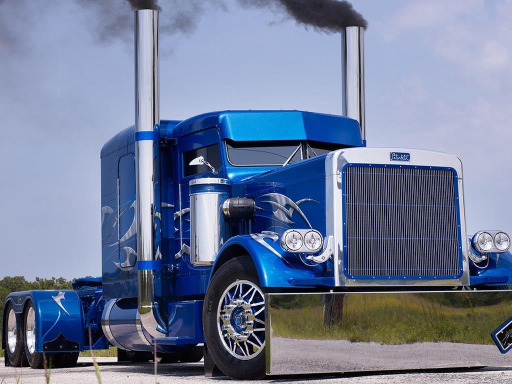 Vehicles Wallpaper: Blue Truck