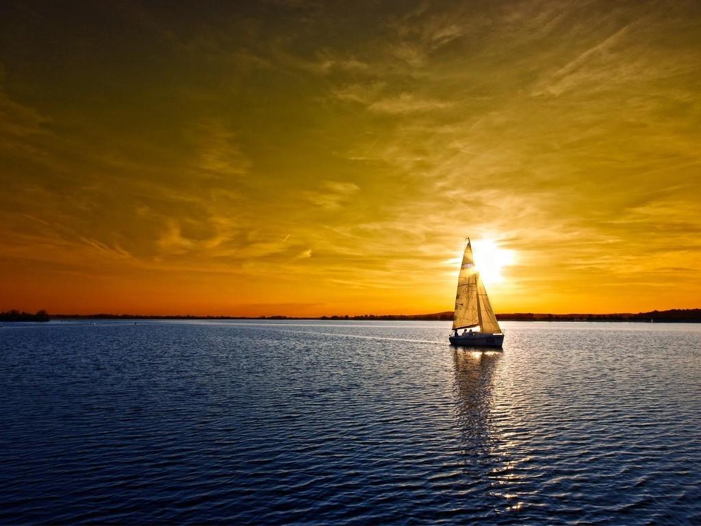 Vehicles Wallpaper: Boat - Sunset
