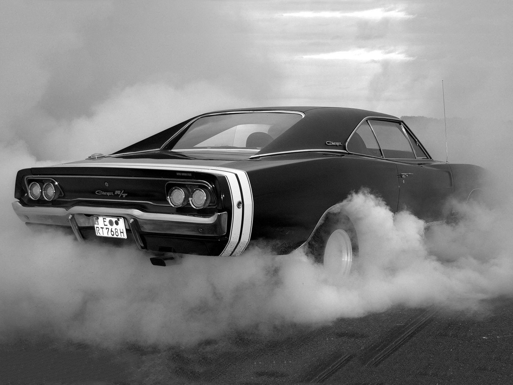Vehicles Wallpaper: Dodge Charger - Burning Rubber