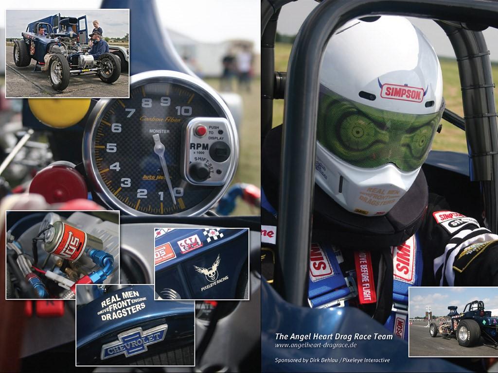 Vehicles Wallpaper: The Angel Heart Drag Race Team