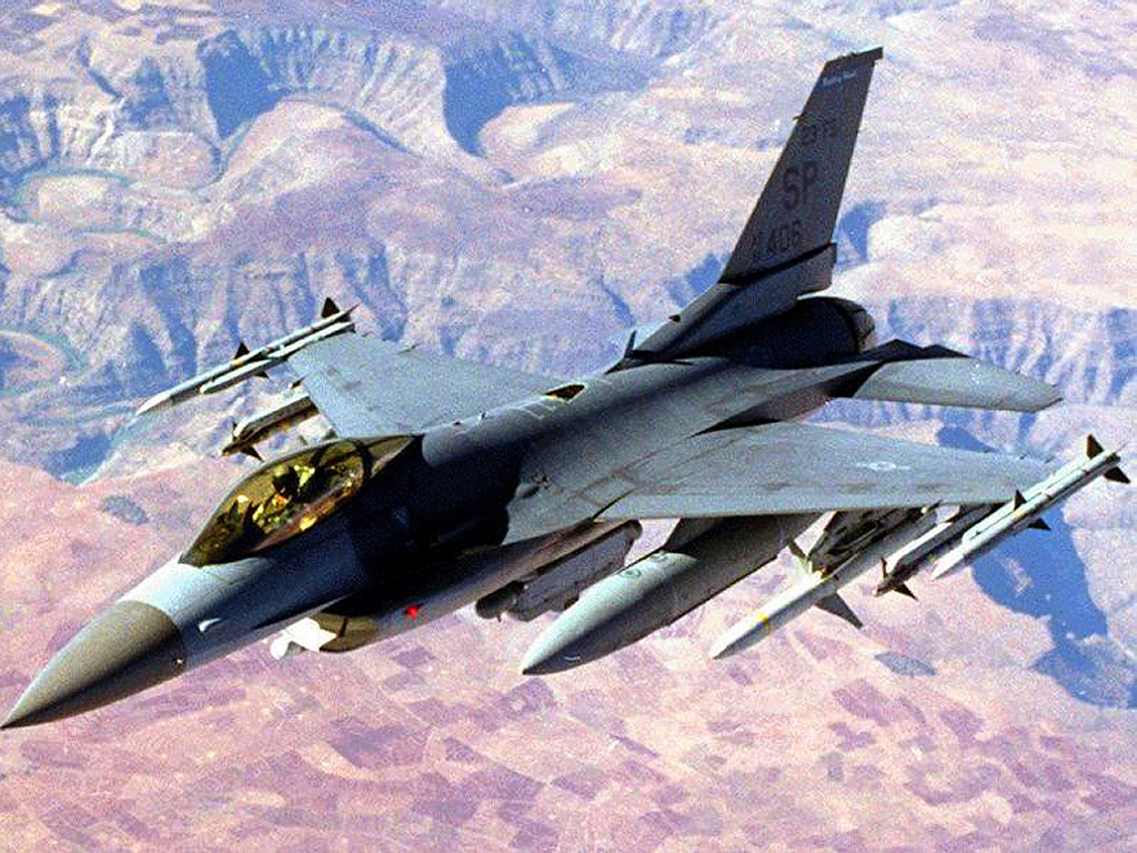 Vehicles Wallpaper: F-16