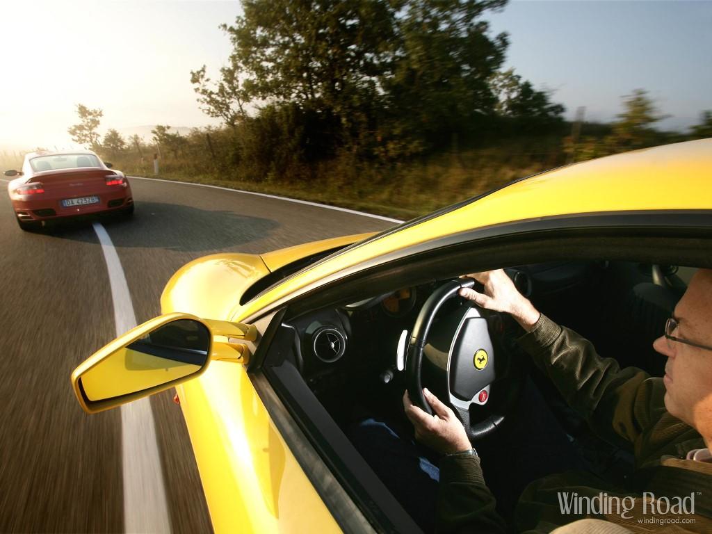 Vehicles Wallpaper: Ferrari F430 vs Porsche 911 Turbo