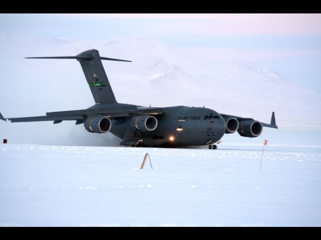 Vehicles Wallpaper: Landing on Ice
