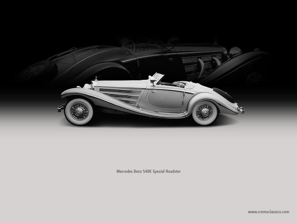 Vehicles Wallpaper: Mercedes Benz 540K Spezial Roadster