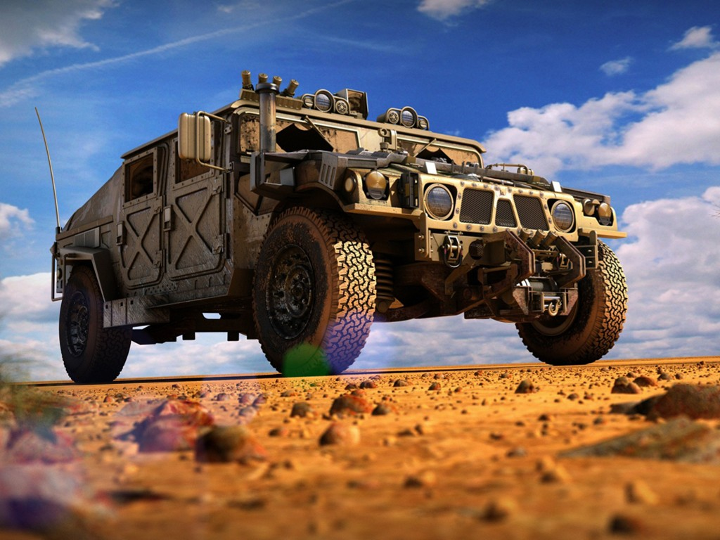 Vehicles Wallpaper: Military Hummer