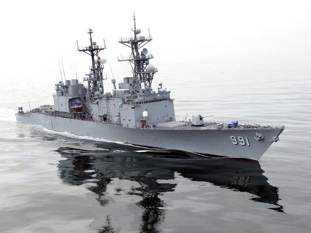 Vehicles Wallpaper: Navy Destroyer - USS Fife