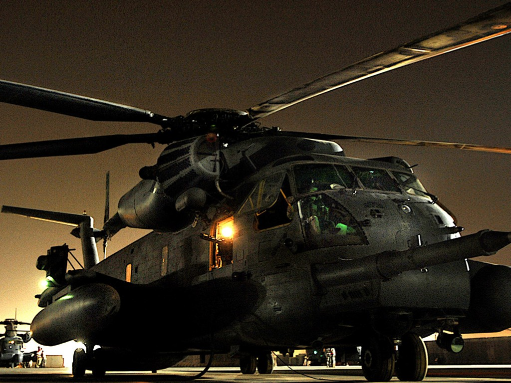 Vehicles Wallpaper: Night Patrol - Helicopters