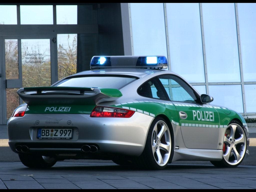 Vehicles Wallpaper: Police Car - Porsche (Rear Angle)