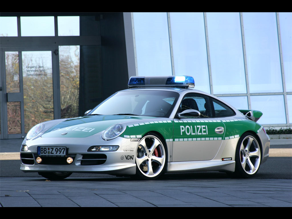 Vehicles Wallpaper: Police Car - Porsche