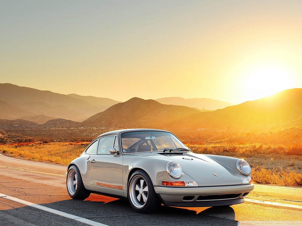 Vehicles Wallpaper: Porsche - Sunset