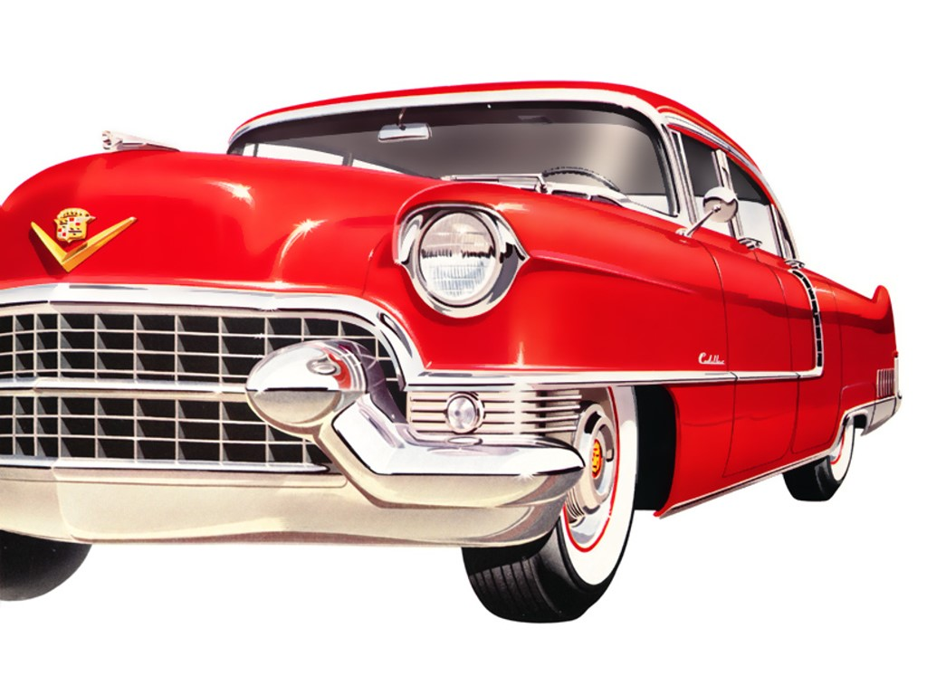 Vehicles Wallpaper: Red Cadillac