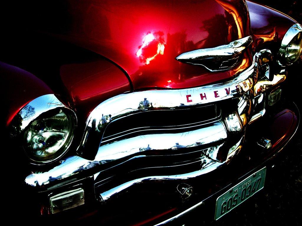Vehicles Wallpaper: Red Chevrolet