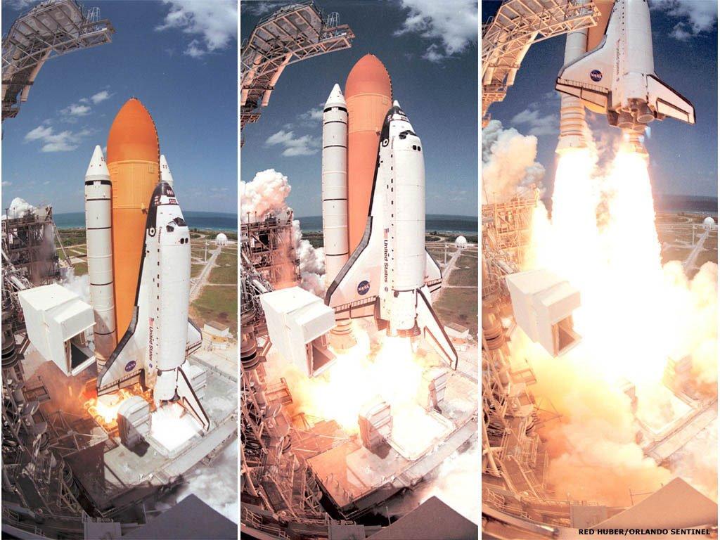 Vehicles Wallpaper: Space Shuttle - Launch