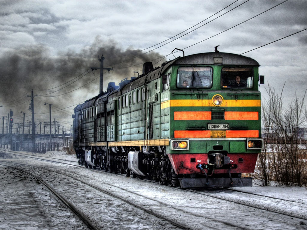 Vehicles Wallpaper: Train - Snow