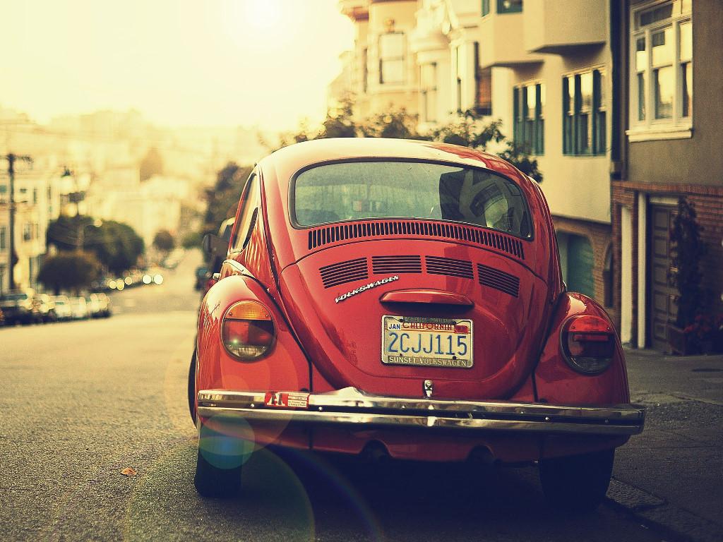Vehicles Wallpaper: Volkswagen Beetle - Hipster