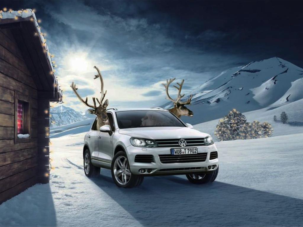 Vehicles Wallpaper: Volkswagen - Christmas
